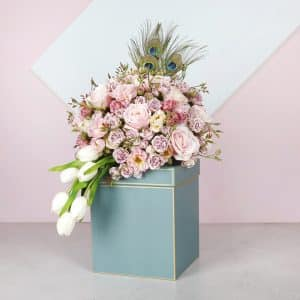 Buono Green Artificial Flower Box