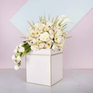 Buono Pink Artificial Flower Box